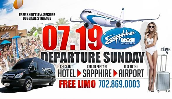 Join the Fun at Sapphire Pool & Dayclub on Departure Sunday July 19