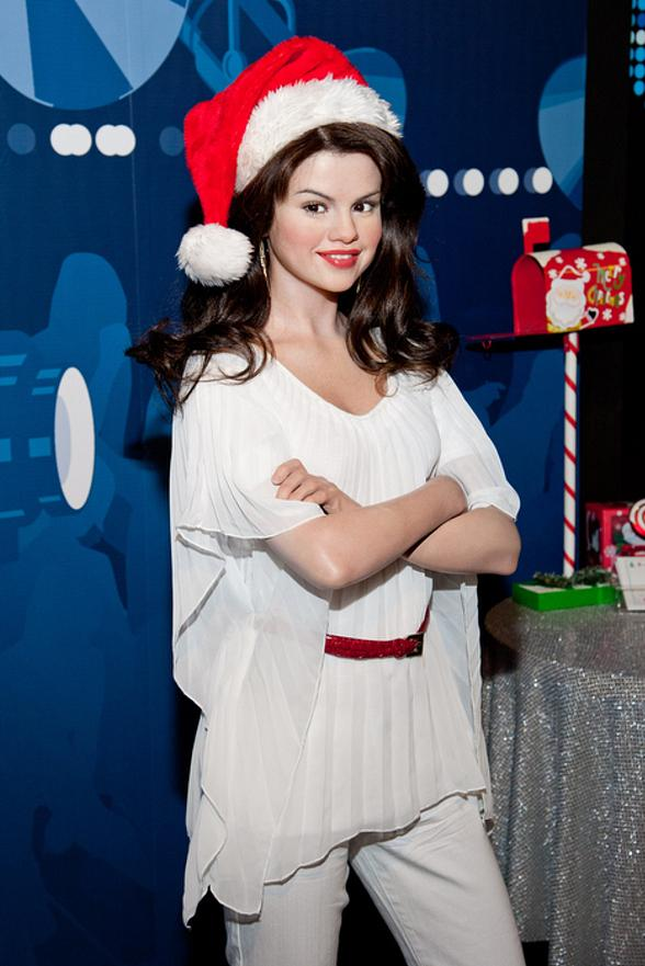 Selena Gomez Wax Figure Visits Madame Tussauds Las Vegas for the Holiday Season