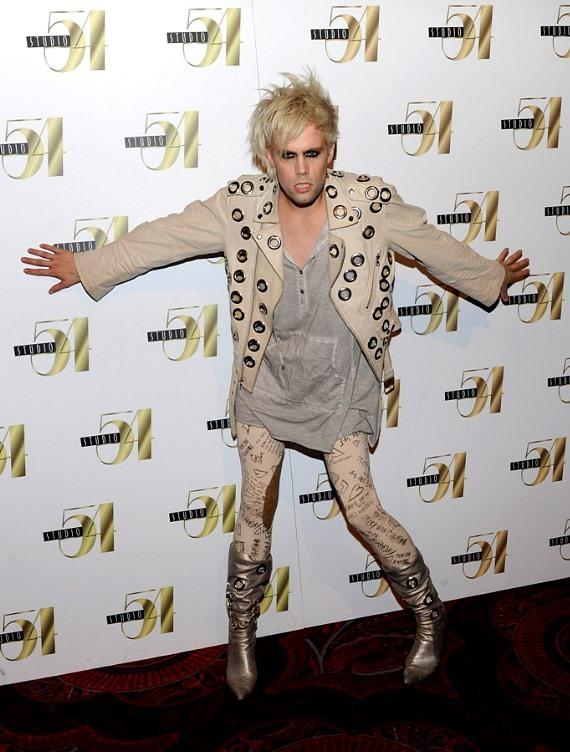 Semi Precious Weapons Lead Singer Justin Tranter at Studio 54