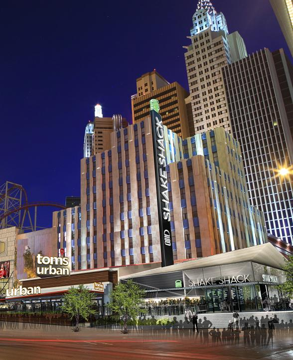 New York-New York Hotel & Casino Brings Tom's Urban and Shake Shack to Dynamic Pedestrian Plaza