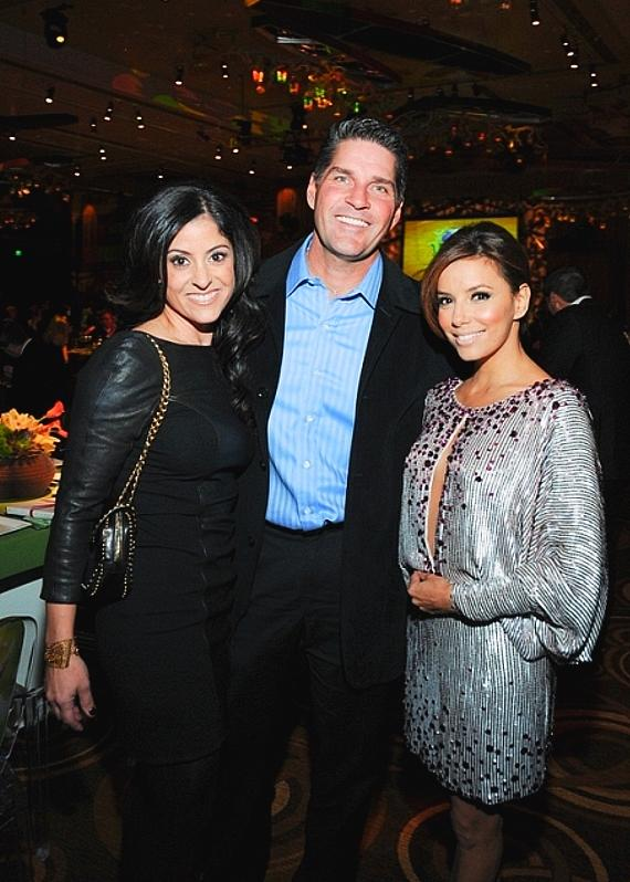 Shannon and Bill McBeath with Eva Longoria-Parker at Nevada Cancer Institute's Rock for the Cure Las Vegas