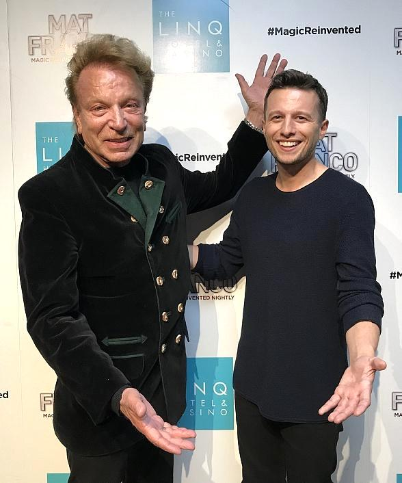"""Siegfried Fischbacher Attends """"Mat Franco - Magic Reinvented Nightly"""" at The LINQ Hotel & Casino in Las Vegas"""