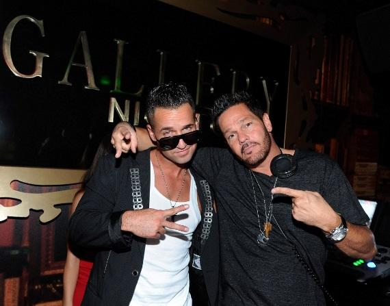 "Mike ""The Situation""  Sorrentino in DJ booth at Gallery Nightclub in Las Vegas"