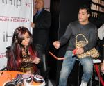 Jersey Shore's Nicole 'Snooki' Polizzi and boyfriend Jionni LaValle at iHip Booth at CES Show