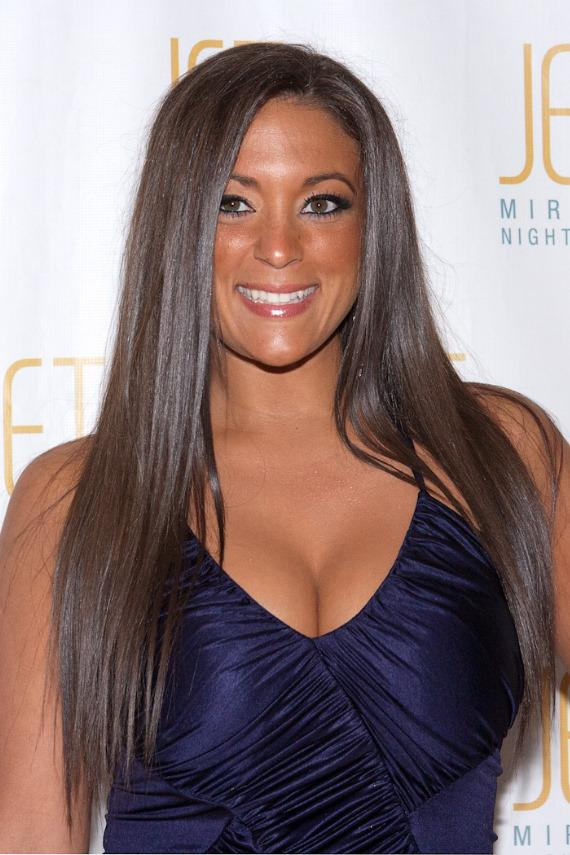 Jersey Shore's Sammi Sweetheart on the red carpet at JET Nightclub