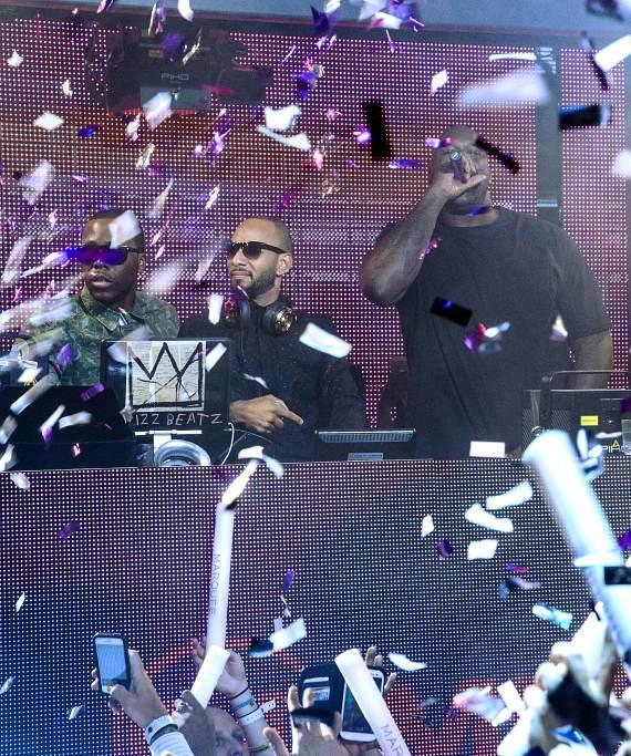 Swizz Beatz & Shaquille O'Neal at Marquee Monster Takeover