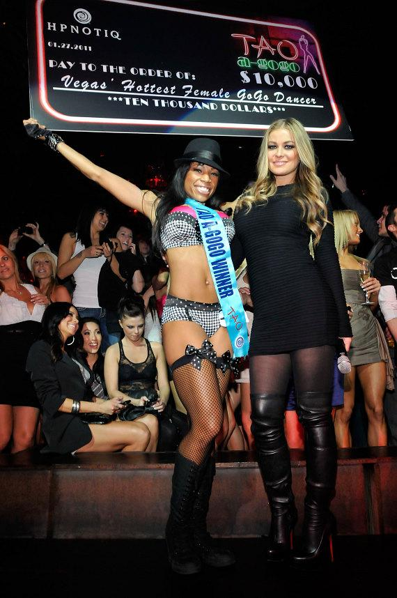 TAO a Go Go winner Donyell Brown and Carmen Electra at TAO