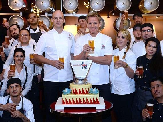 The Gordon Ramsay Pub  Grill team at Caesars Palace toasts to a successful first year