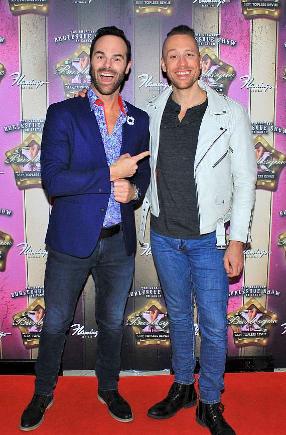 The Naked Magicians, Mike Tyler and Christopher Wayne, at X Burlesque 17th Anniversary