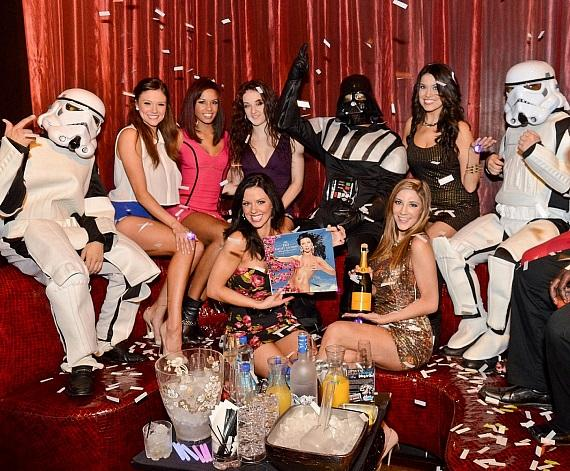 The cast of FANTASY with Storm Troopers and Darth Vader at LAX Nightclub