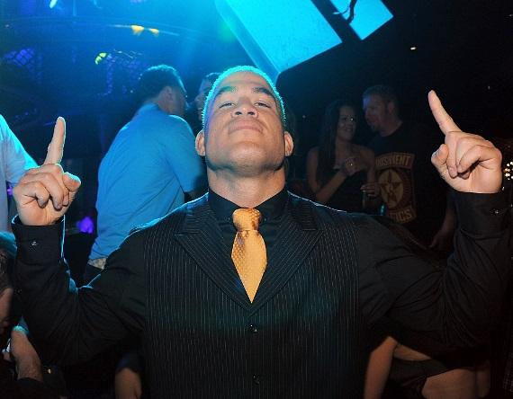 Tito Ortiz revels after his big win at Gallery Nightclub inside Planet Hollywood