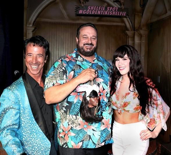 """Playboy Playmate Claire Sinclair and Comedian Monti Rock III Help The Golden Tiki Celebrate 2 Year """"Terrible Twos"""" Anniversary"""
