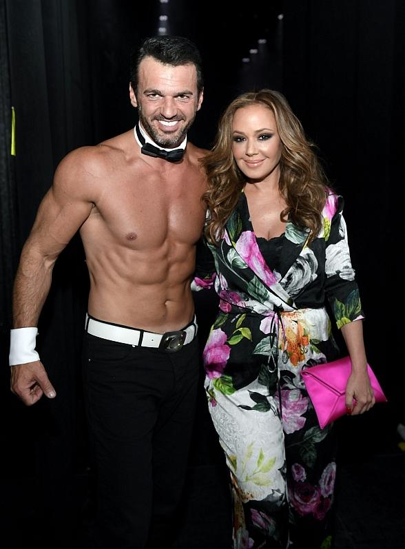 """Emmy Award Winning Actress Leah Remini Reunites with Tony Dovolani, Her Former Partner from """"Dancing with the Stars"""" and Current Chippendales Guest Host at the Rio All-Suite Hotel & Casino in Las Vegas"""