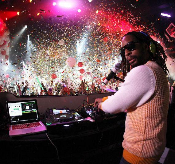 NeNe Leakes and Cynthia Bailey ring in 2014 at Tryst Nightclub in Las Vegas with Lil Jon