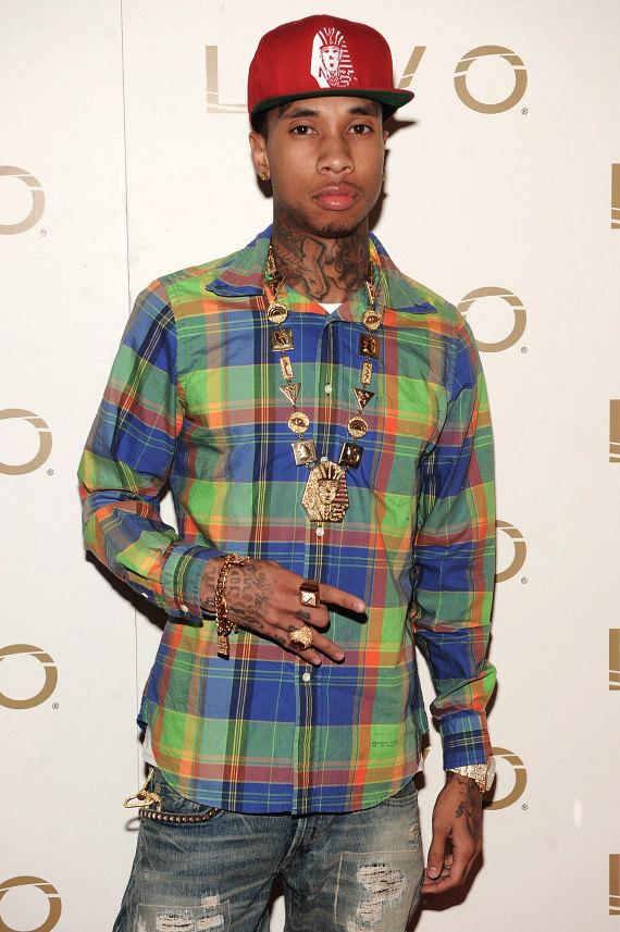 Tyga on red carpet at LAVO