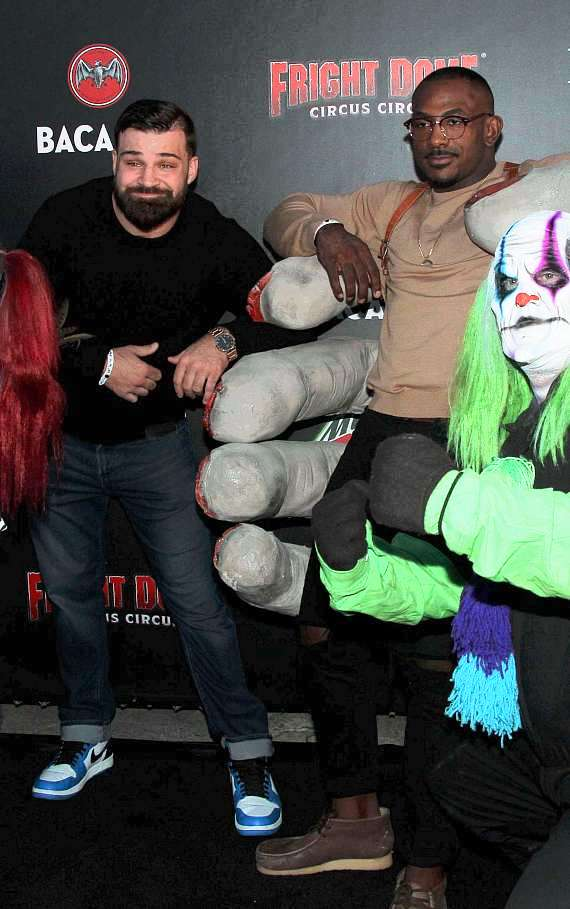 UFC fighter Khalil Rountree and Julian Marquez at Fright Dome in Las Vegas