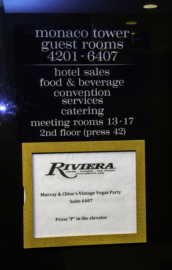 Murray & Chloe's party at the Presidential Penthouse, Suite 6407 at The Riviera