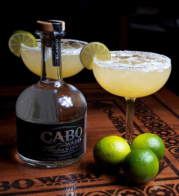 Waborita and bottle of Cabo Wabo Tequila