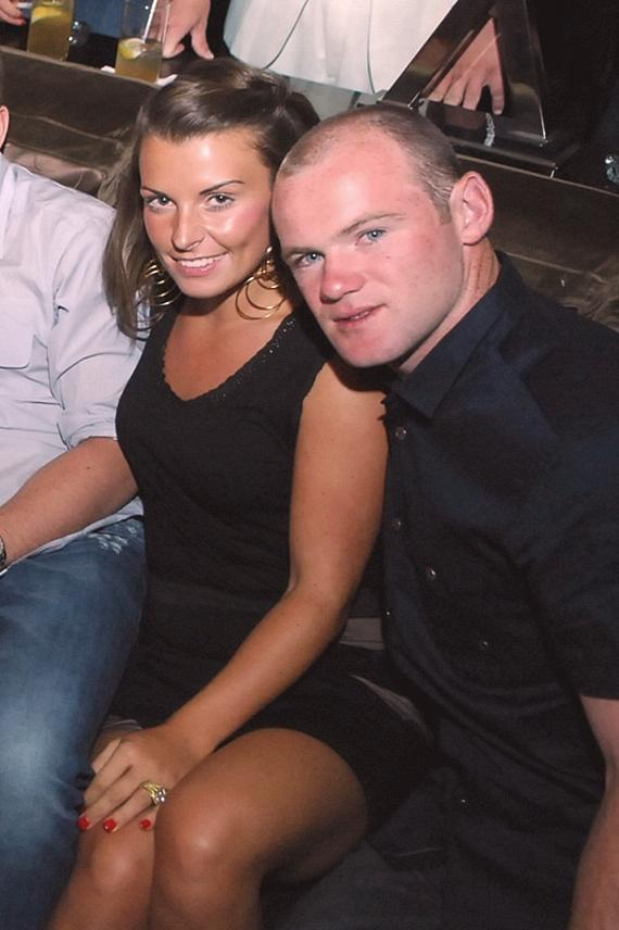 Wayne Rooney with wife at Blush