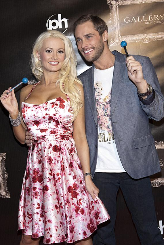 Holly Madison and Josh Strickland at Gallery Nightclub in Planet Hollywood