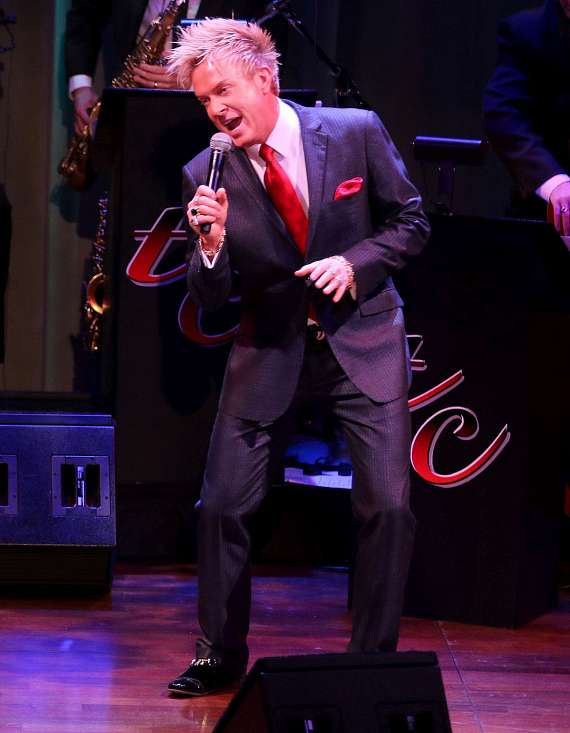 """Chris Phillips (Zowie Bowie) performs in """"Christmas at My Place"""""""