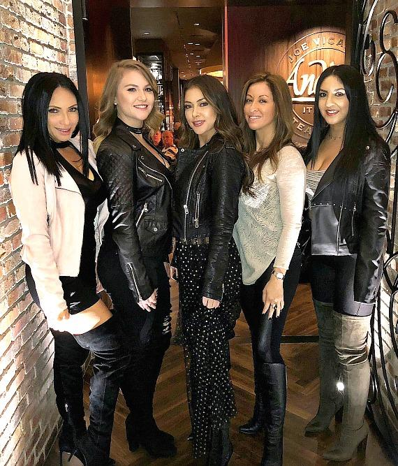 Arianny Celeste celebrates birthday dinner with friends at Andiamo Italian Steakhouse Las Vegas