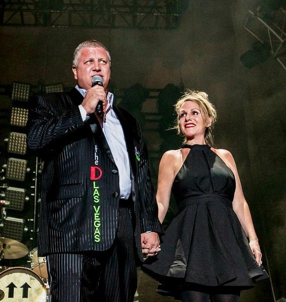 Collective Soul & Goo Goo Dolls concert with D Casino and DLVEC owner Derek Stevens and wife Nicole at Downtown Las Vegas Events Center