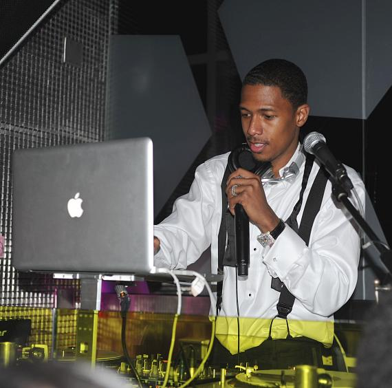 Nick Cannon in the DJ booth