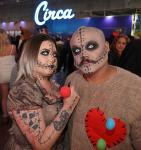 Halloween at Golden Fate Hotel Casino with Circa Las Vegas in background