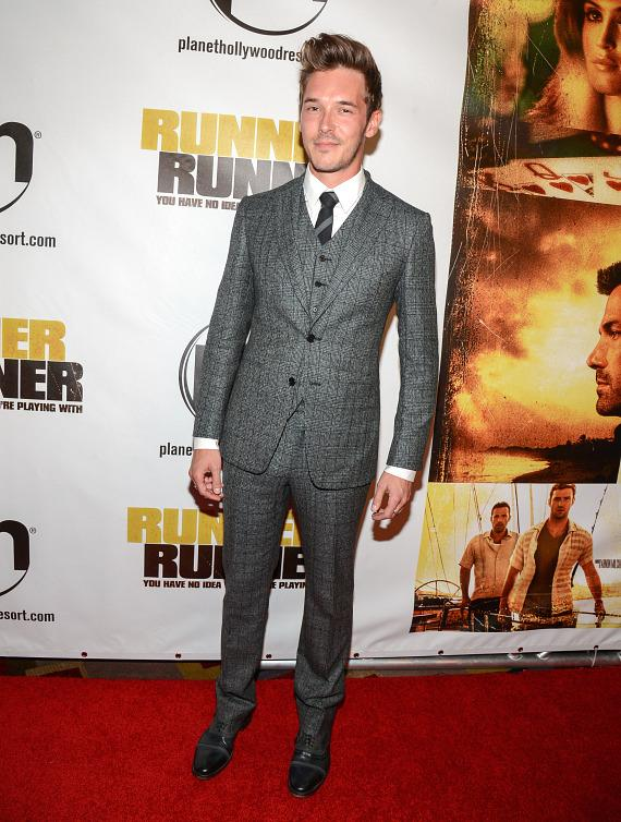 Sam Palladio at Runner Runner premiere at Planet Hollywood in Las Vegas