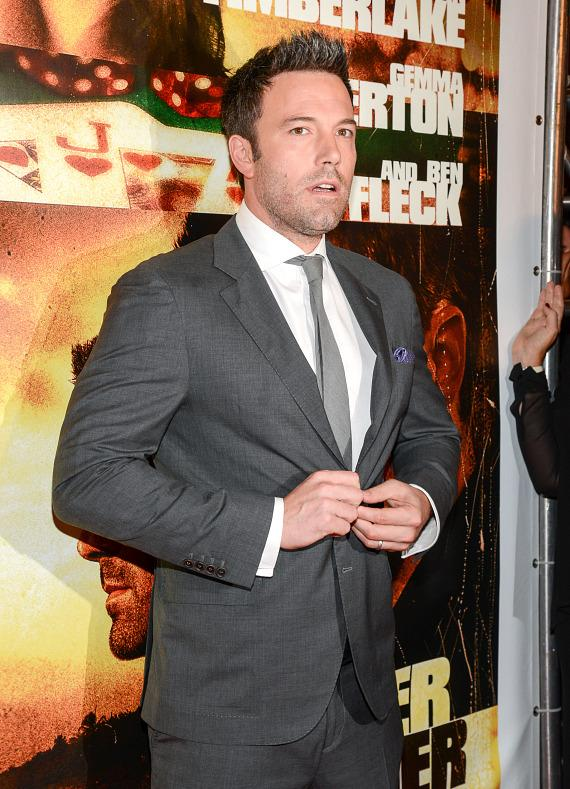 Ben Affleck at Runner Runner premiere at Planet Hollywood in Las Vegas