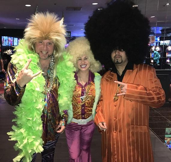 """Horny Mike from """"Counting Cars"""" with friends at the D Casino Hotel in Las Vegas on Halloween 20016"""