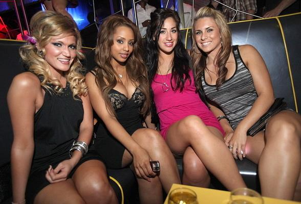 Ida Ljungqvist (second from left) Playmate of the Year 2009