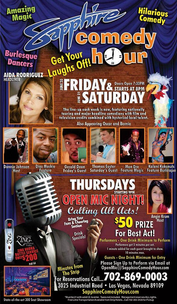 Aida Rodriguez to Headline Sapphire Comedy Hour at Sapphire Las Vegas on Friday, June 20 and Saturday, June 21