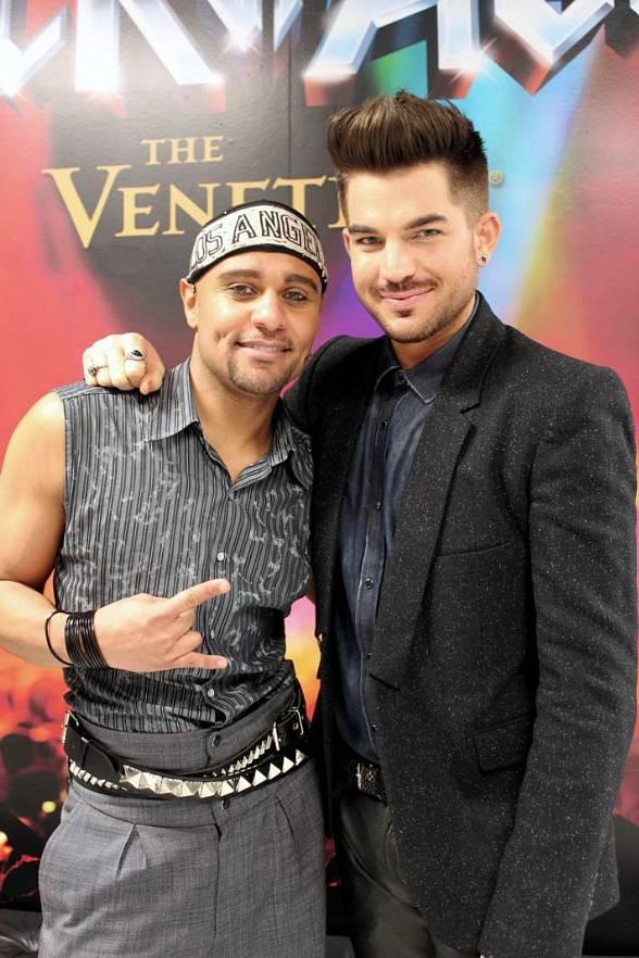 Terrance Spencer with Adam Lambert