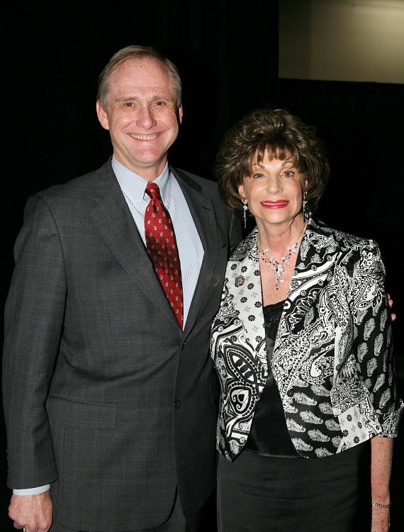 Vegas PBS General Manager Tom Axtell with Congresswoman Shelly Berkley