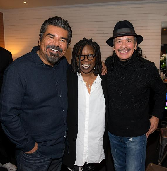 George Lopez, Whoopi Goldberg and Carlos Santana