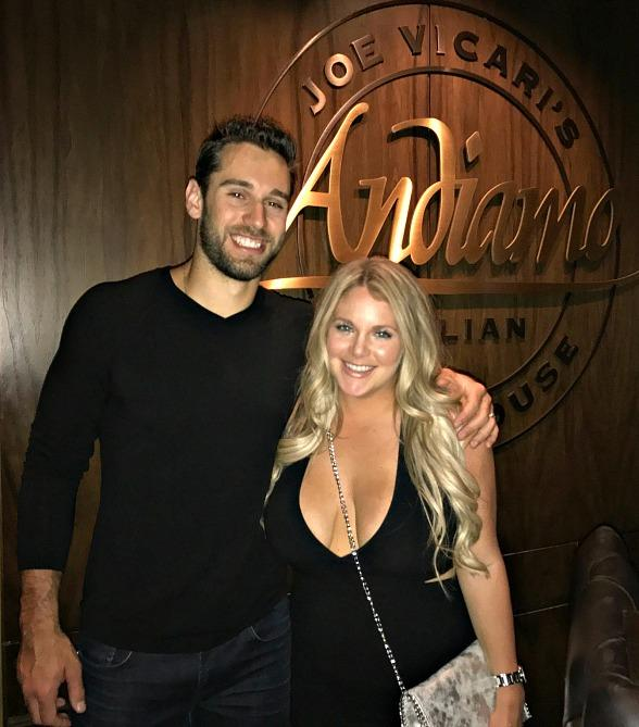 NHL Record Breaking Goalie Cam Talbot dines at Andiamo Italian Steakhouse in Las Vegas