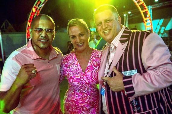 The D Las Vegas Owner Derek Stevens with wife Nicole Parthum and Boxer Fernando Vargas