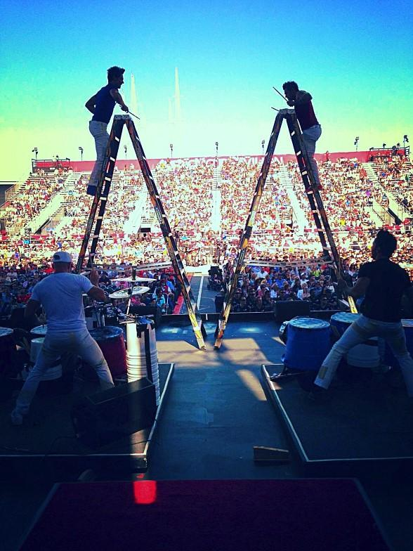 Recycled Percussion Performs at America's Cup Opening Ceremonies
