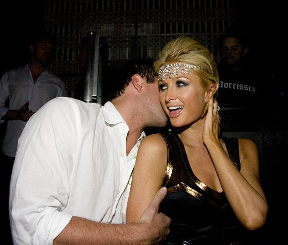 Doug Reinhart and Paris Hilton (Photo credit: Aaron Thompson)