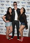 Robin Thicke with fans on red carper at Rehab Pool Party at Hard Rock Hotel Las Vegas
