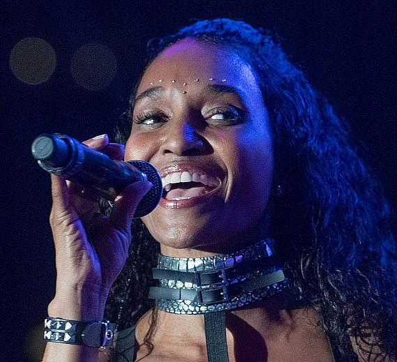"""Rozonda Thomas, Chilli of TLC, performs at Downtown Las Vegas Events Center for """"I Love The 90s"""""""