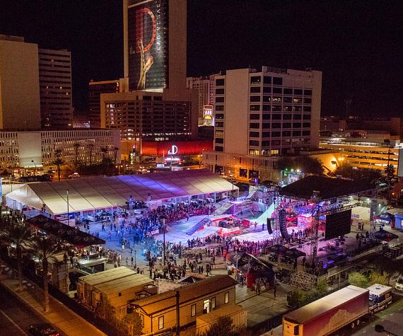 The Las Vegas Throw Down Action Sports/Music Festival energizes the Downtown Las Vegas Events Center