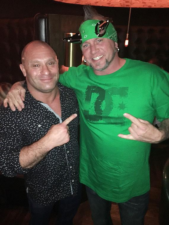 UFC's Matt Serra with Horny Mike, star of Counting Cars