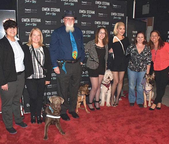 """Service Dogs in Training Attend """"Gwen Stefani – Just a Girl"""" at Planet Hollywood Resort & Casino"""