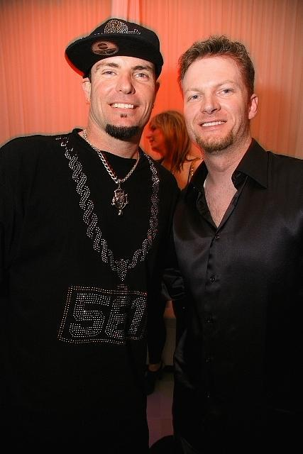Vanilla Ice and Dale Earnhardt, Jr. at PURE Nightclub in Las Vegas