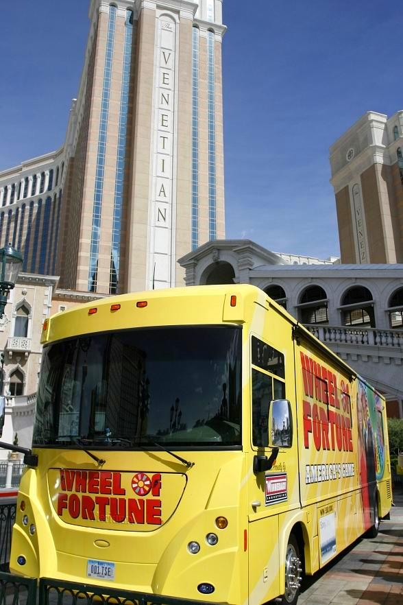 Wheelmobile parked in front of The Venetian