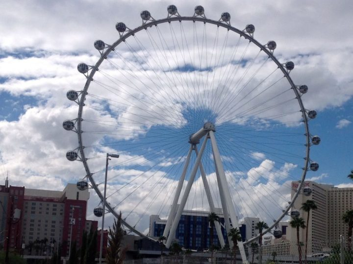 Las Vegas High Roller, on The Linq Promenade center of the Las Vegas Strip