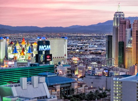 View of the MGM, Excalibur, and New York New York from the Signature